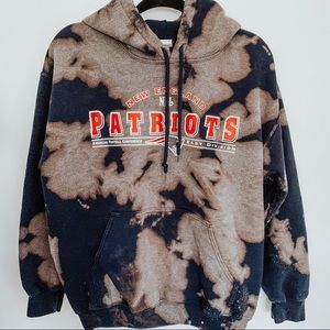 New England Patriots Football Bleached Hoodie